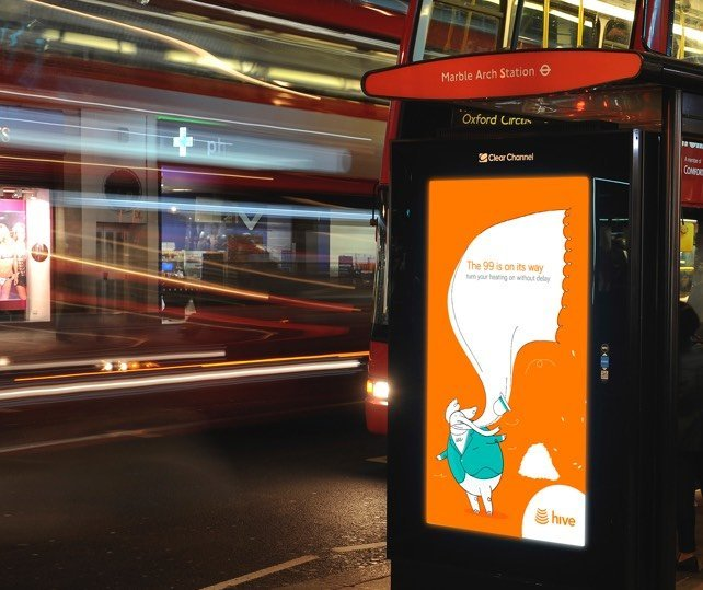 Hive DOOH campaign. Image credit: Live Poster